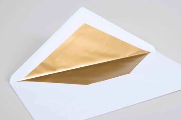 Briefhülle mit Blattgold-Innenfutter