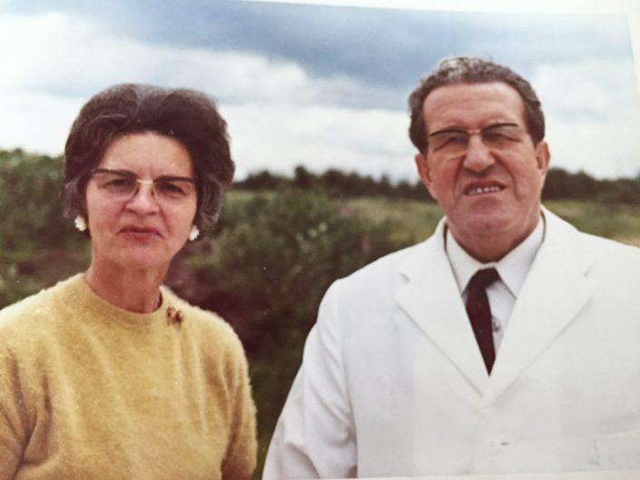 Otto Theobald Senior mit seiner Ehefrau