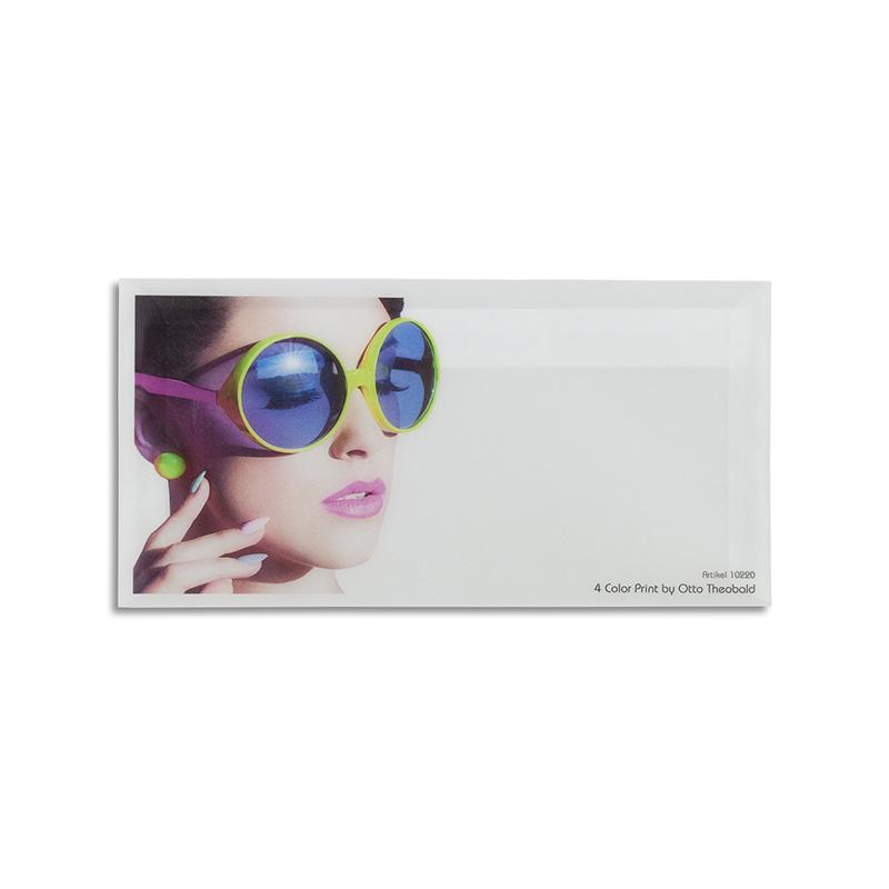Transparente Briefhülle 4-farbig