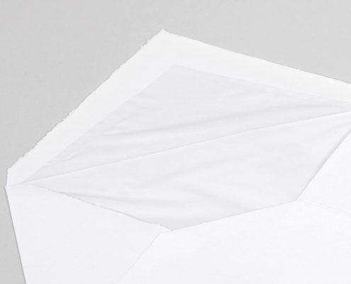 Echt Bütten Briefhüllen mit Seidenfutter