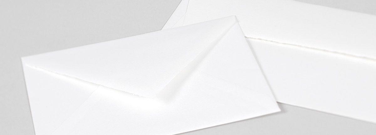 Echt Bütten Briefhüllen