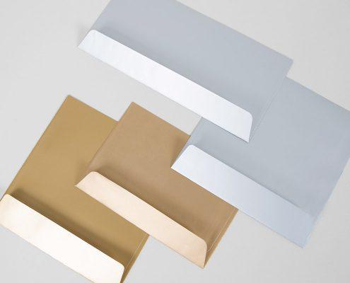Metallics Briefhüllen