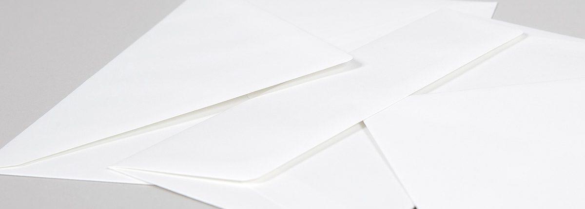 Cremeweiße Briefhüllen Opaline