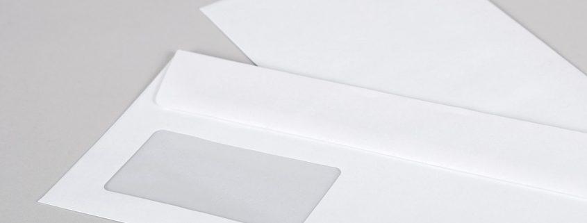 Die ganzseitig bedruckbare Briefhülle