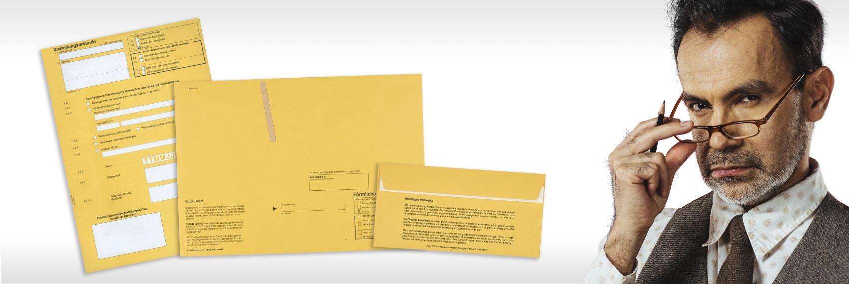 Briefhüllen für rechtswirksame Zustellung