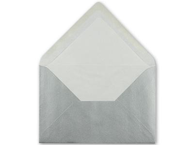 Silberne Seidenfutterhüllen