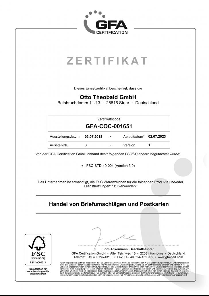 FSC-Zertifikat