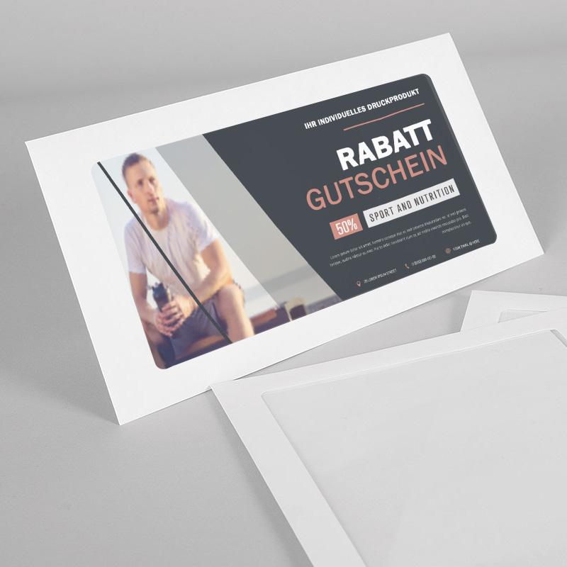 Umschlag mit extra großem Fenster